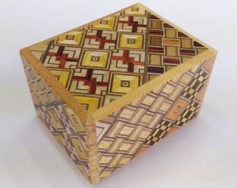 Japanese Puzzle box (Himitsu bako)- 60mm (2.3inch) 7 steps Yosegi