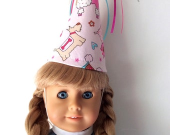 "18"" Doll Birthday Hat-Play Party Hat for Stuffed Animals"