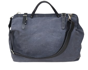 Harry charcoal waxed canvas workbag