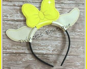 Clarabelle Mouse Ears Headband by Twincess Bowtique - CUSTOM