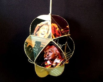 Barry Manilow Album Cover Ornament Made Of Record Jackets