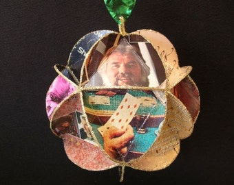 Kenny Rogers Album Cover Ornament Made Of Record Jackets Country Music