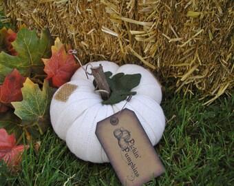 PICKIN' PUMPKINS White Pumpkin Primitive Pumpkin Harvest Pumpkin Decoration