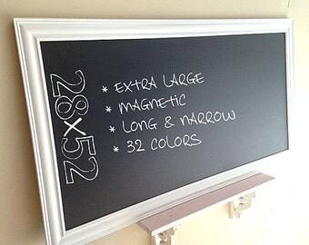 LARGE KITCHEN CHALKBOARD Framed Chalk Board Office Organizer Magnetic Blackboard Modern Bulletin Board White Chalkboard Home Office Decor