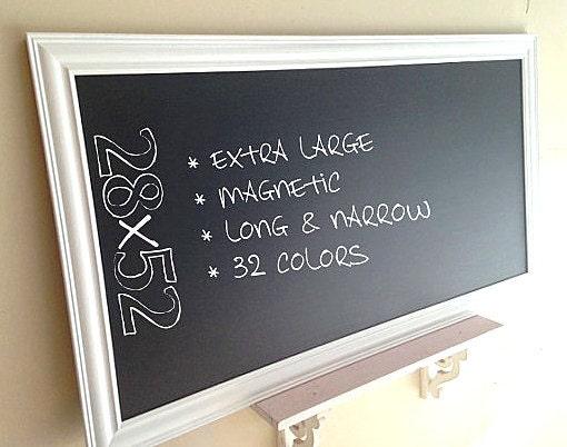 Large Kitchen Chalkboard Framed Chalk Board Office Organizer