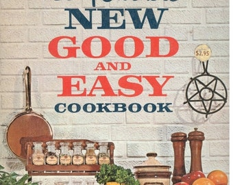 """ON SALE Betty Crocker's """"Good and Easy"""" Cook Book, Vintage Recipes, 1962 Cookbook 1st Edition, Vintage Cooking, Collectible Cookbook"""