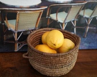 French Vintage Handmade Basket Vintage Woven Basket Rural Art Folk Art French Country Kitchen Decor Photo Prop