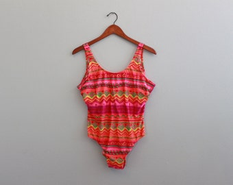 Vintage Bright Neon Swimsuit by Islander