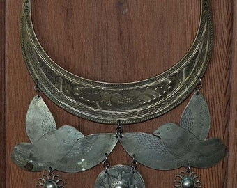Silver Necklace - Pectoral, Cambodia