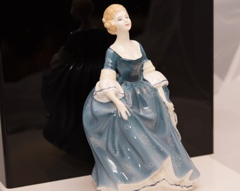 Royal Doulton Hilary HN2335 1960-80s Retired, Blue Dress with snowflakes figurine
