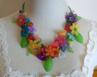 Hawaiian Floral Lei Necklace D