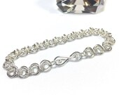 Sterling Silver Mobius Chain Maille Bracelet with Infinity Clasp
