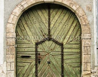 Old Wood Door Photo Print, Doors of Budapest, House Photography, Travel Photo, Fine Art Photo, 8x10 print