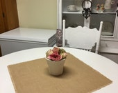 Set Of 10- Burlap Table Squares-Wedding-Reception-Banquets-Large Gathering