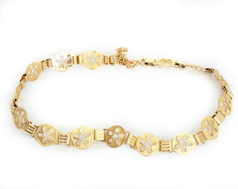 Goldie, Vintage, Gold Metal Chain Belt from Paris