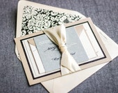 Champagne Wedding Invitations, Classic Invitations, Elegant Wedding, Glitter Invitations, Classic Romance - Flat Panel, 2 Layers, v1- SAMPLE