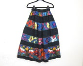 Chiapas Huipil Embroidered Mexican Folk Long Skirt Ladies S/M
