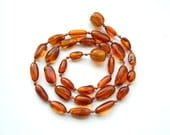 """14.2"""" Natural Baltic Amber child necklace,  teenager neclace, polished beads, cognac amber"""