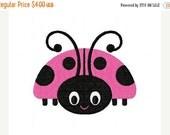 SALE INSTANT DOWNLOAD Spunky Ladybug Machine Embroidery Design