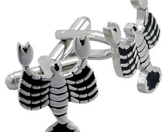 Scorpio Atrology Sign Cufflinks Black and Silver Cuff links 1200318