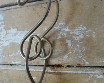 Vintage Wooden Hanger Rounded Wood
