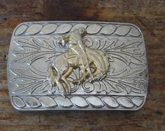 Vintage Bucking Horse Belt Buckle
