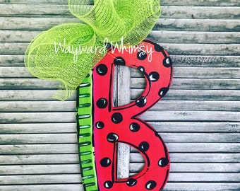 Watermelon alphabet any letter wooden Door Hanger