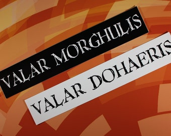 Valar Morghulis / Valar Dohaeris Game of Thrones vinyl sticker set car laptop bike bumper