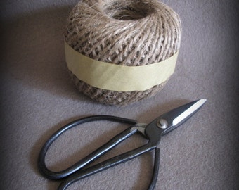 18th Century Reproduction Embroidery Scissors and Ball of Jute cheswickcompany
