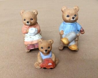 Vintage Set of Bears