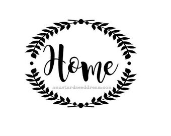 Home with Primitive Vine - Vinyl Wall Art, Graphics, Lettering, Decals, Stickers