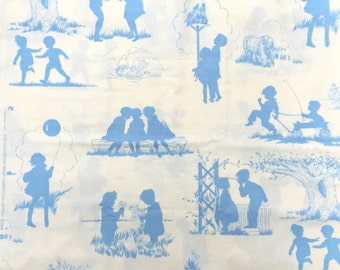 Storybook Toile Alexander Henry fabric FQ or more