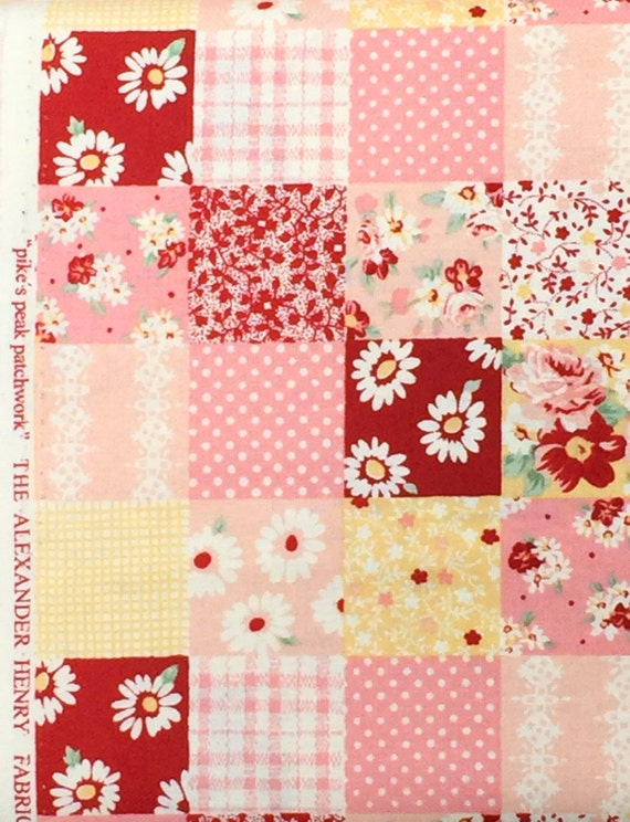 Pike's Peak Patchwork Alexander Henry fabric FQ or more