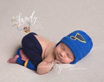 Baby Boy, Hockey set, helmet and pants, newborn photo prop