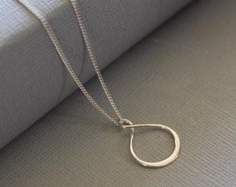 Infinity Jewelry, Infinity Necklace, Infinity Sterling Silver Necklace, Bridesmaids Gift, Minimalist Everyday Jewelry, Gift For Mom