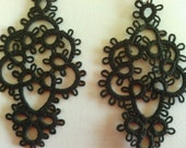Tatted black earrings Nero