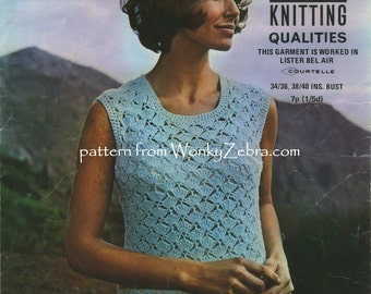 Vintage Crochet Jumper Pattern PDF 714 from WonkyZebra