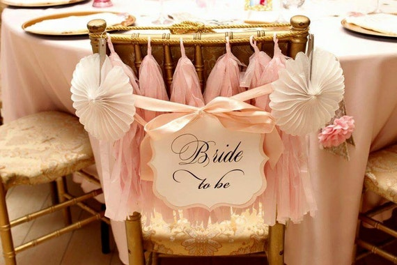 Bride To Be Chair Sign Bridal Shower Decoration Prepared In