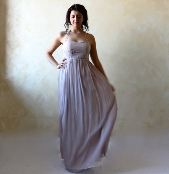 Wedding dress, Alternative wedding dress, Lavender wedding dress, boho wedding dress, fairy wedding dress, silk wedding dress, colored gown