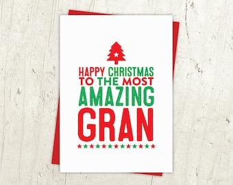Happy Christmas Gran Card