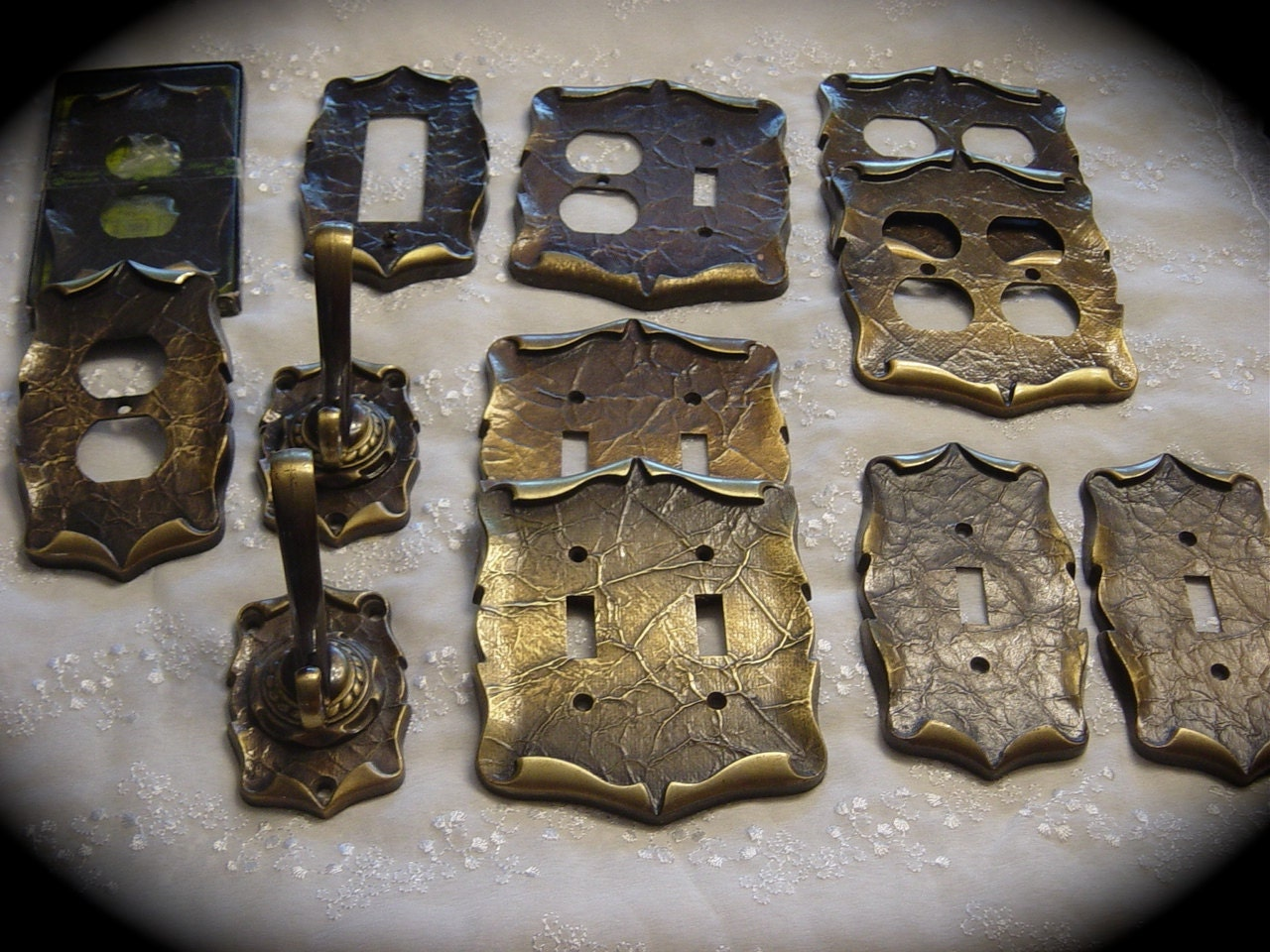 Vintage Amerock Carriage House Hardware Metal Switch Plates