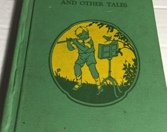 1939 Man in the Drum and other tales Music Appreciation Children Book third grade stories songs music folk tales Hazel Gertrude Kinscella