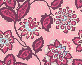 SALE - Joel Dewberry Fabric - Ornate Floral in Amethyst, By the Yard