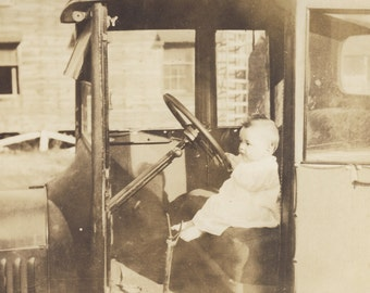 Are You Sure You Are Not Too YOUNG To DRIVE a CAR Photo Circa 1920