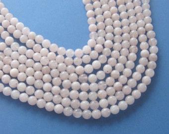 """Pink Jade Round Beads, Jewelry Making Beads, Gemstone Beads, Jade Beads, Ball Bead, Stone Bead, Craft Supply, Jewelry Design, 15"""" Strand 8mm"""