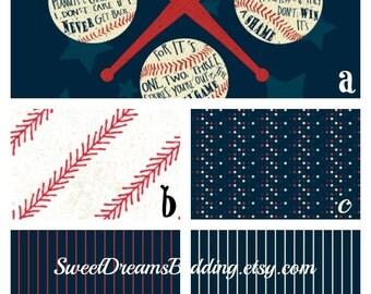 Custom bedding Red  White and Blue Baseball
