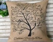Mother's Day Gifts   Family Tree   Family Name   Family Tree Pillow   My Family   Family Gift   Family Reunion   Pillow Personalized