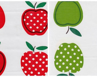 Apples and Dots Oilcloth By The Yard