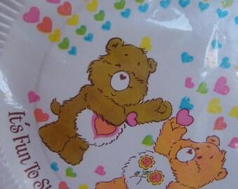 care bear paper plates