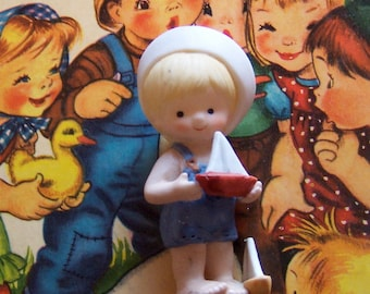 adorable little enesco sailor baby figurine